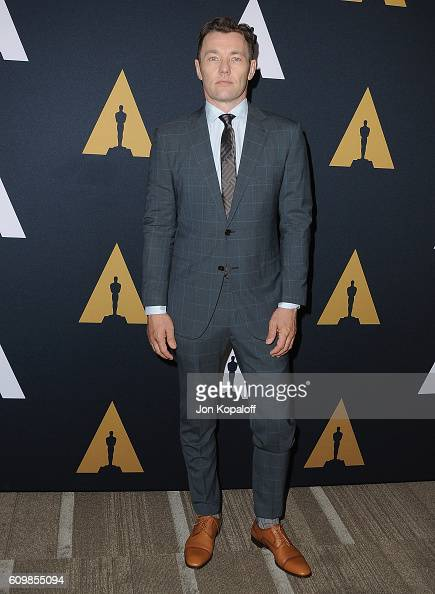 Actor Joel Edgerton arrives at the Academy Of Motion Picture Arts And Sciences 43rd Student Academy Awards at Samuel Goldwyn Theater on September 22...