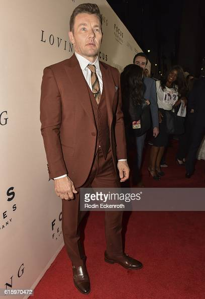 Actor Joel Edgerton at the Los Angeles Premiere of Focus Features' LOVING at Samuel Goldwyn Theater on October 20 2016 in Beverly Hills California
