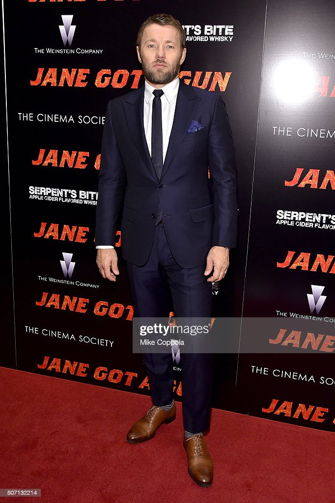 Actor Joel Edgerton attends the New York premiere of 'Jane Got A Gun' hosted by The Weinstein Company with the Cinema Society and Serpent's Bite at The Museum of Modern Art on January 27, 2016 in New York City.