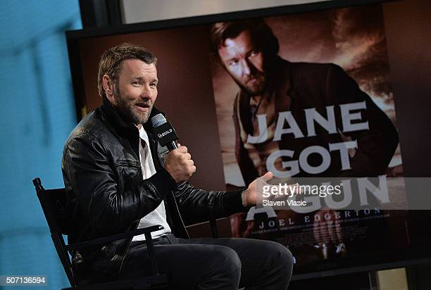 Actor Joel Edgerton discusses his upcoming film 'Jane's Got A Gun' at AOL Build at AOL Studios In New York on January 27 2016 in New York City