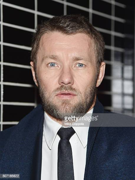 Actor Joel Edgerton poses for a picture as Weinstein Company with The Cinema Society Serpent's Bite Host the New York premiere of 'Jane Got A Gun'...