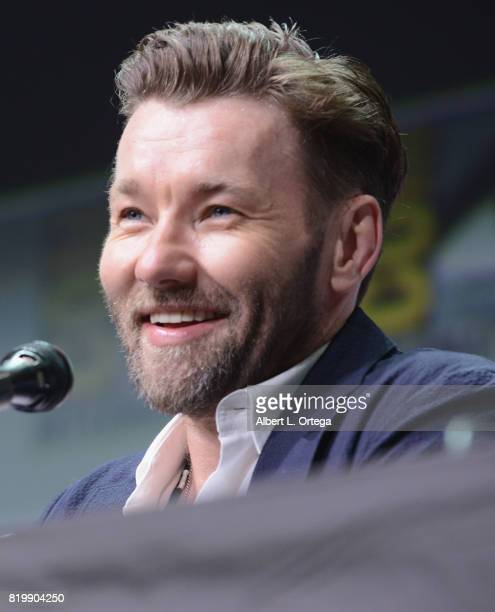 Actor Joel Edgerton speaks onstage at Netflix Films 'Bright' and 'Death Note' panel during ComicCon International 2017 at San Diego Convention Center...