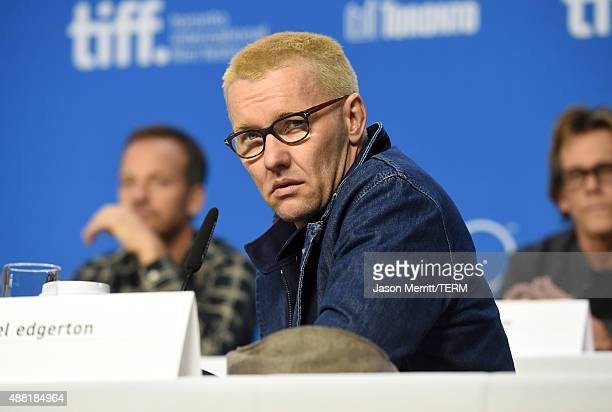 Actor Joel Edgerton speaks onstage during the 'Black Mass' press conference at the 2015 Toronto International Film Festival at TIFF Bell Lightbox on...
