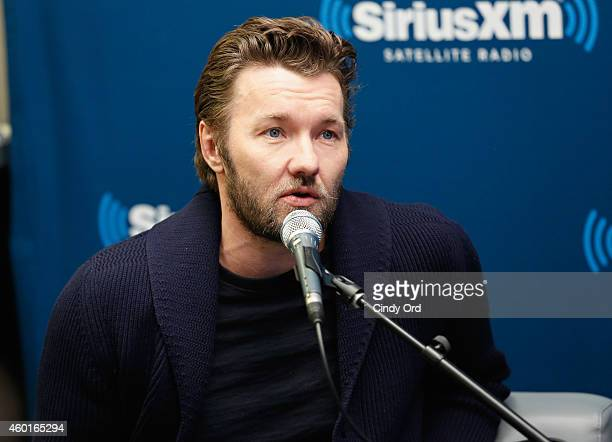 Actor Joel Edgerton takes part in a SiriusXM 'Town Hall Exodus Gods and Kings' special with host Matt Bean Editor of Entertainment Weekly on...
