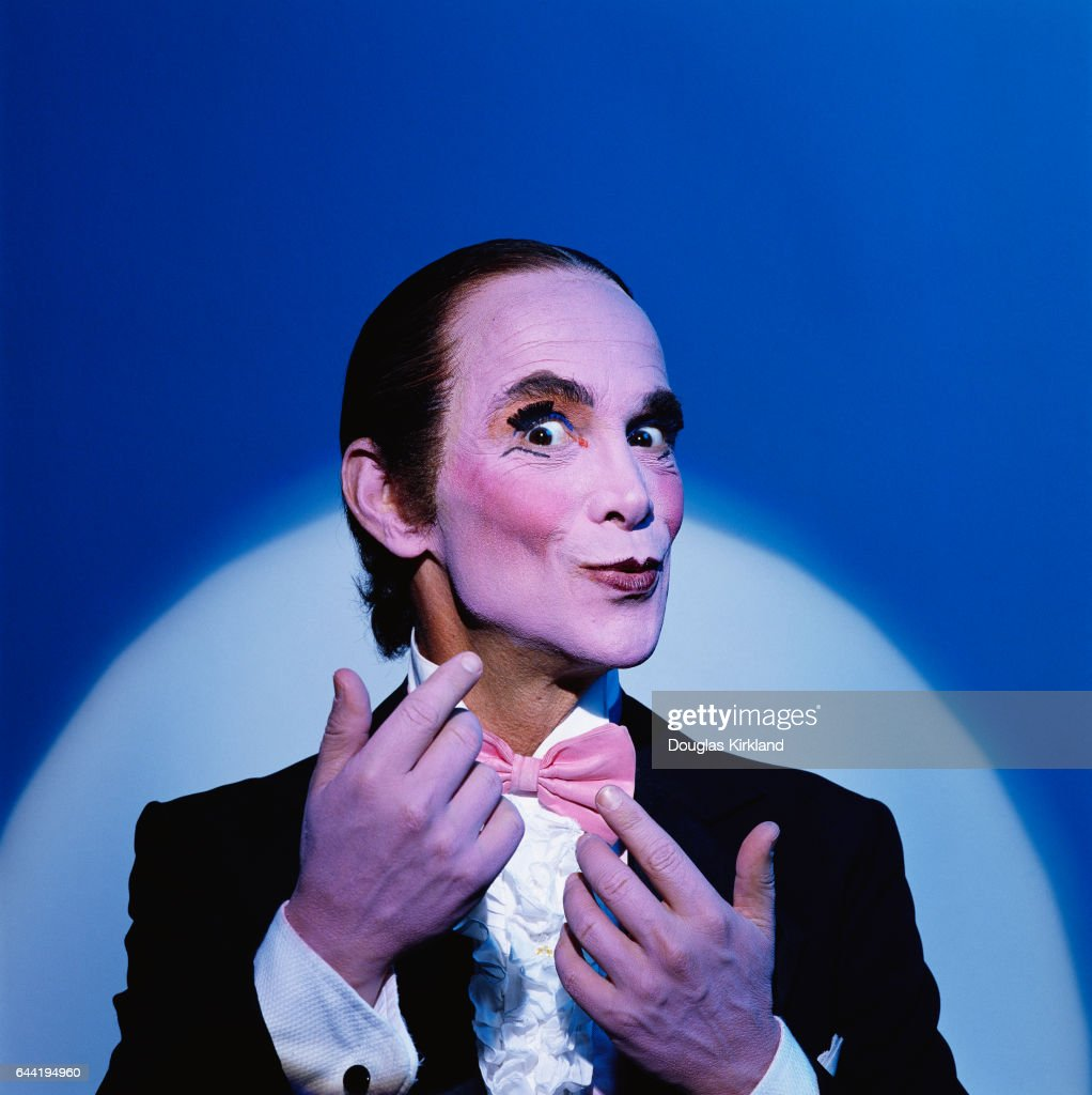 Actor Joel Grey as the Master of Ceremonies, the sardonic musical commentator on the story in Cabaret. Grey created the role on Broadway, and won an Oscar for his performance in the film.