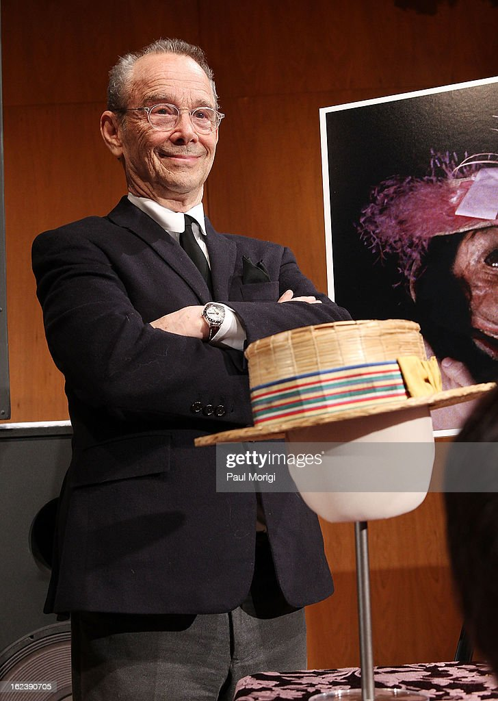 Actor <a gi-track='captionPersonalityLinkClicked' href=/galleries/search?phrase=Joel+Grey&family=editorial&specificpeople=215297 ng-click='$event.stopPropagation()'>Joel Grey</a> donates his hat from Cabaret at the 'Cabaret' Washington DC Screening honoring <a gi-track='captionPersonalityLinkClicked' href=/galleries/search?phrase=Joel+Grey&family=editorial&specificpeople=215297 ng-click='$event.stopPropagation()'>Joel Grey</a> at Smithsonian National Museum Of American History on February 22, 2013 in Washington, DC.
