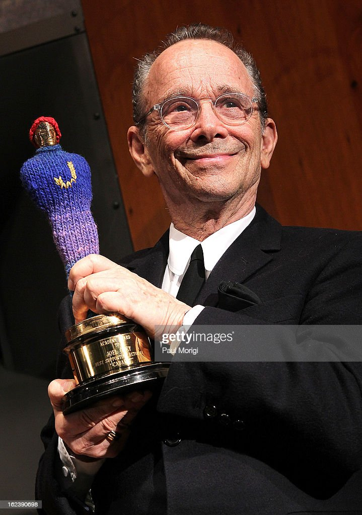 Actor <a gi-track='captionPersonalityLinkClicked' href=/galleries/search?phrase=Joel+Grey&family=editorial&specificpeople=215297 ng-click='$event.stopPropagation()'>Joel Grey</a> holds his Academy Award for 'Best Supporting Actor in Cabaret' at the 'Cabaret' Washington DC Screening honoring <a gi-track='captionPersonalityLinkClicked' href=/galleries/search?phrase=Joel+Grey&family=editorial&specificpeople=215297 ng-click='$event.stopPropagation()'>Joel Grey</a> at Smithsonian National Museum Of American History on February 22, 2013 in Washington, DC.