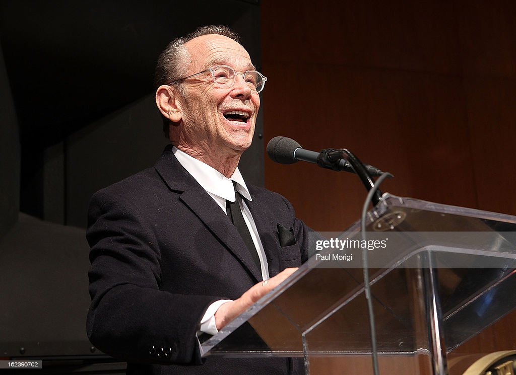 Actor Joel Grey speaks at the 'Cabaret' Washington DC Screening honoring Joel Grey at Smithsonian National Museum Of American History on February 22, 2013 in Washington, DC.