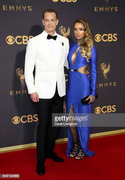 Actor Joel Kinnaman and Cleo Wattenstrom attend the 69th Annual Primetime Emmy Awards Arrivals at Microsoft Theater on September 17 2017 in Los...