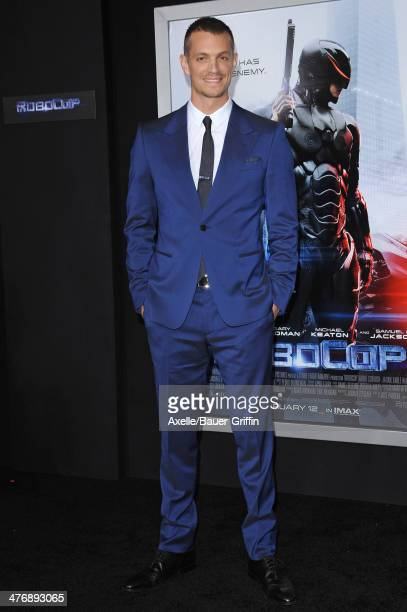 Actor Joel Kinnaman arrives at the Los Angeles premiere of 'RoboCop' at TCL Chinese Theatre on February 10 2014 in Hollywood California
