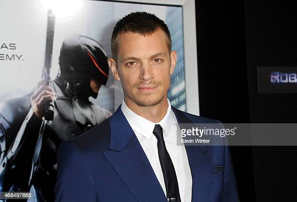 Actor Joel Kinnaman arrives at the premiere of Columbia Pictures' 'Robocop' at TCL Chinese Theatre on February 10 2014 in Hollywood California