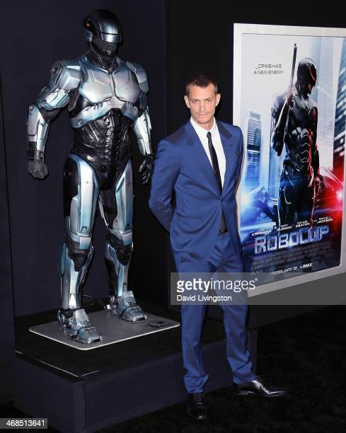 Actor Joel Kinnaman attends the premiere of Columbia Pictures' 'Robocop' at the TCL Chinese Theatre on February 10 2014 in Hollywood California