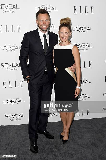 Actor Joel McHale and Sarah Williams attend ELLE's 21st Annual Women in Hollywood Celebration at the Four Seasons Hotel on October 20 2014 in Beverly...