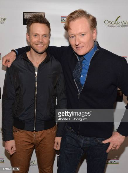 Actor Joel McHale and TV Personality/Honoree Conan O'Brien attend the 9th Annual 'Oscar Wilde Honoring The Irish In Film' PreAcademy Awards event at...