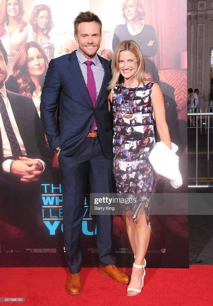 Actor Joel McHale and wife Sarah Williams arrive at the Los Angeles Premiere 'This Is Where I Leave You' at TCL Chinese Theatre on September 15 2014...