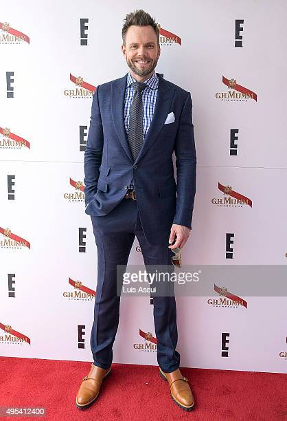 Actor Joel McHale at the Mumm Marquee on Melbourne Cup Day at Flemington Racecourse on November 3 2015 in Melbourne Australia