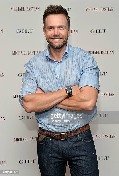 Actor Joel McHale attends Joe Manganiello Michael Bastian and GILT Celebrate The Launch Of The MB Chronowing Smartwatch on November 6 2014 in West...