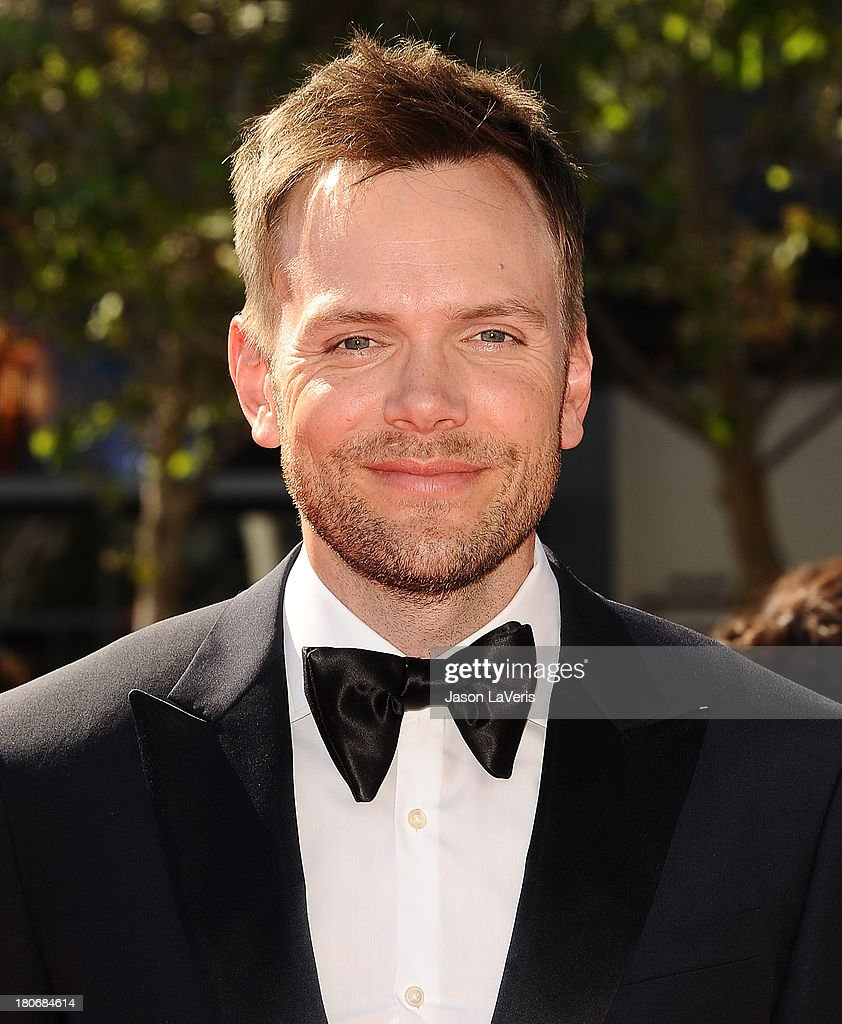 Actor <a gi-track='captionPersonalityLinkClicked' href=/galleries/search?phrase=Joel+McHale&family=editorial&specificpeople=754384 ng-click='$event.stopPropagation()'>Joel McHale</a> attends the 2013 Creative Arts Emmy Awards at Nokia Theatre L.A. Live on September 15, 2013 in Los Angeles, California.