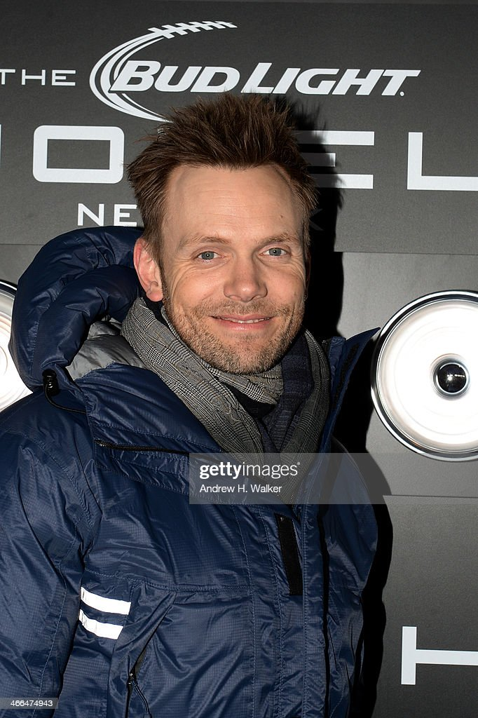 Actor <a gi-track='captionPersonalityLinkClicked' href=/galleries/search?phrase=Joel+McHale&family=editorial&specificpeople=754384 ng-click='$event.stopPropagation()'>Joel McHale</a> attends the Bud Light Hotel Main Event on February 1, 2014 in New York City.