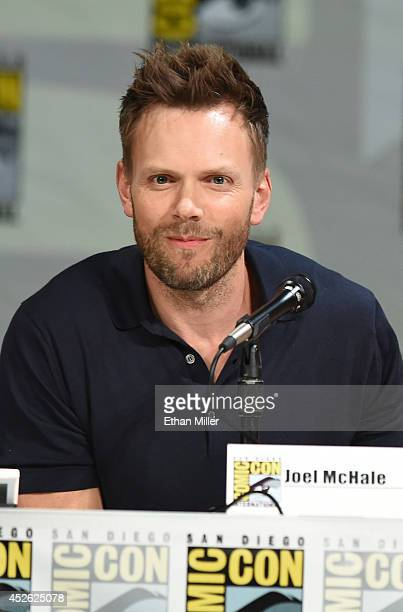 Actor Joel McHale attends the 'Community' panel during ComicCon International 2014 at the San Diego Convention Center on July 24 2014 in San Diego...