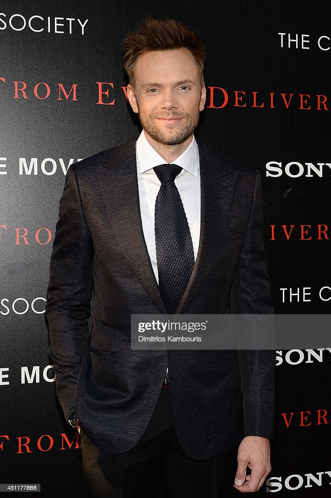 Actor <a gi-track='captionPersonalityLinkClicked' href=/galleries/search?phrase=Joel+McHale&family=editorial&specificpeople=754384 ng-click='$event.stopPropagation()'>Joel McHale</a> attends the 'Deliver Us From Evil' screening hosted by Screen Gems & Jerry Bruckheimer Films with The Cinema Society at SVA Theater on June 24, 2014 in New York City.