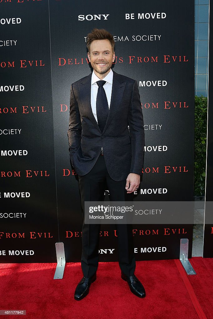 Actor Joel McHale attends the 'Deliver Us From Evil' screening hosted by Screen Gems Jerry Bruckheimer Films with The Cinema Society at SVA Theater...