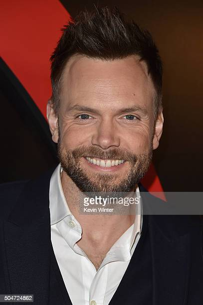 Actor Joel McHale attends the premiere of Fox's 'The XFiles' at California Science Center on January 12 2016 in Los Angeles California