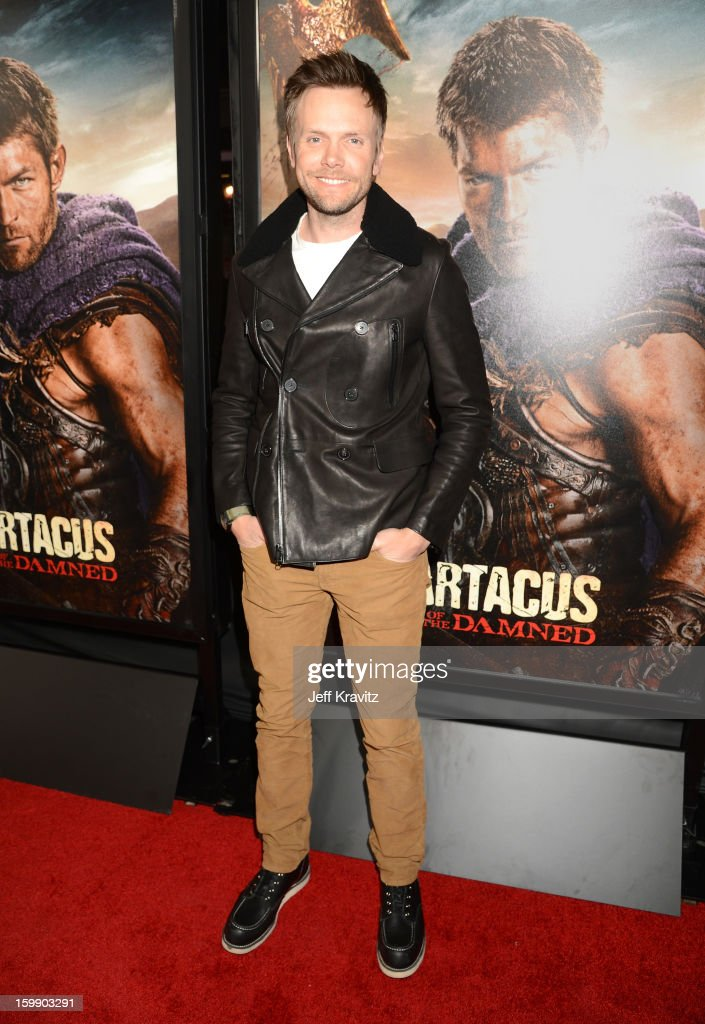 Actor Joel McHale attends the 'Spartacus: War Of The Damned' premiere at Regal Cinemas L.A. LIVE Stadium 14 on January 22, 2013 in Los Angeles, California.