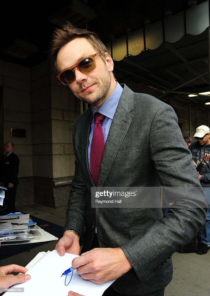 Actor Joel McHale is seen outside the Trump Hotel on May 13, 2013 in New York City.