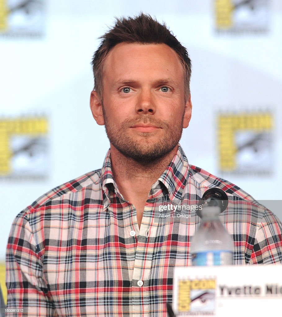 Actor Joel McHale participates in 'Community' - School is Back In Session Panel - Comic-Con International 2012 held at San Diego Convention Center on July 12, 2012 in San Diego, California.