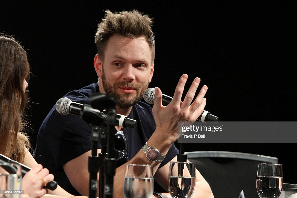 Actor Joel McHale speaks onstage at 'The Cast Of 'Community' On Moving To Digital' during 2015 SXSW Music Film Interactive Festival at Austin...