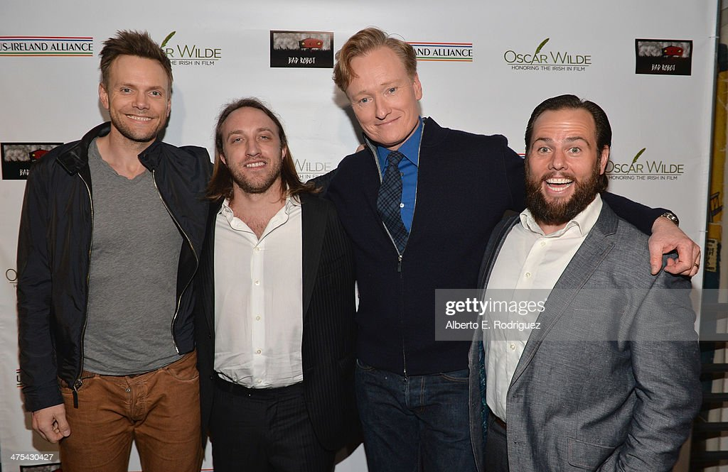 Actor Joel McHale YouTube cofounder Chad Hurley TV Personality/Honoree Conan O'Brien and Founder of Maker Studios Shay Carl attend the 9th Annual...