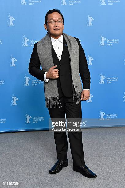 Actor Joel Saracho attends the 'A Lullaby to the Sorrowful Mystery' photo call during the 66th Berlinale International Film Festival Berlin at Grand...