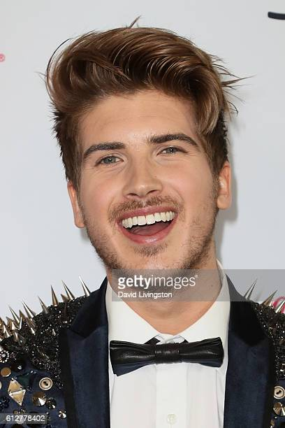Actor Joey Graceffa arrives at the 2016 Streamy Awards at The Beverly Hilton Hotel on October 4 2016 in Beverly Hills California