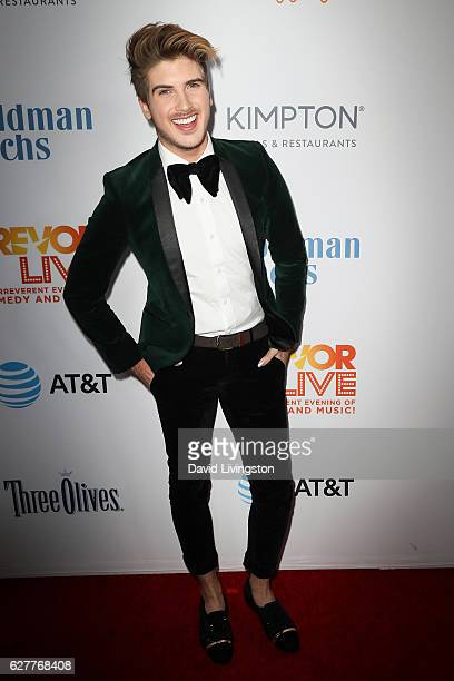 Actor Joey Graceffa arrives at the TrevorLIVE Los Angeles 2016 Fundraiser at The Beverly Hilton Hotel on December 4 2016 in Beverly Hills California