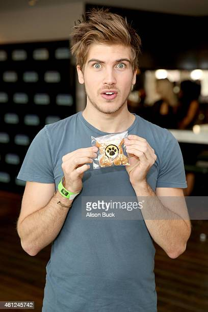Actor Joey Graceffa attends Kari Feinstein's PreGolden Globes Style Lounge at the Andaz West Hollywood on January 9 2015 in West Hollywood California