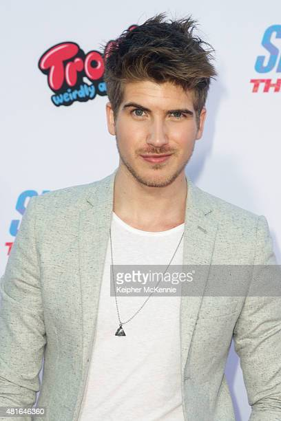 Actor Joey Graceffa attends premiere of 'Smosh The Movie' at Westwood Village Theatre on July 22 2015 in Westwood California