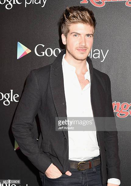 Actor Joey Graceffa attends Rolling Stone and Google Play event during Grammy Week at the El Rey Theatre on February 5 2015 in Los Angeles California...