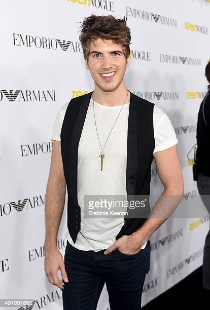 Actor Joey Graceffa attends Teen Vogue Celebrates the 13th Annual Young Hollywood Issue with Emporio Armani on October 2 2015 in Beverly Hills...