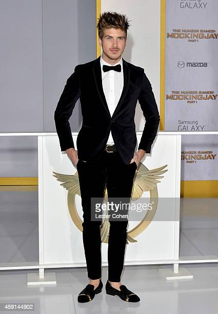 Actor Joey Graceffa attends 'The Hunger Games Mockingjay Part 1' Los Angeles Premiere at Nokia Theatre LA Live on November 17 2014 in Los Angeles...