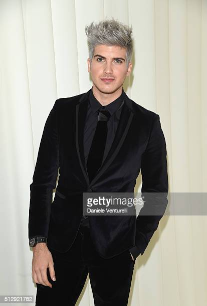 Actor Joey Graceffa wearing Bulgari attends Bulgari at the 24th Annual Elton John AIDS Foundation's Oscar Viewing Party at The City of West Hollywood...