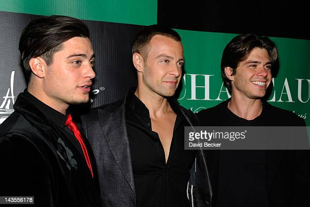 Actor Joey Lawrence arrives with his brothers Andrew Lawrence and Matthew Lawrence to celebrates his birthday at the Chateau Nightclub Gardens at the...