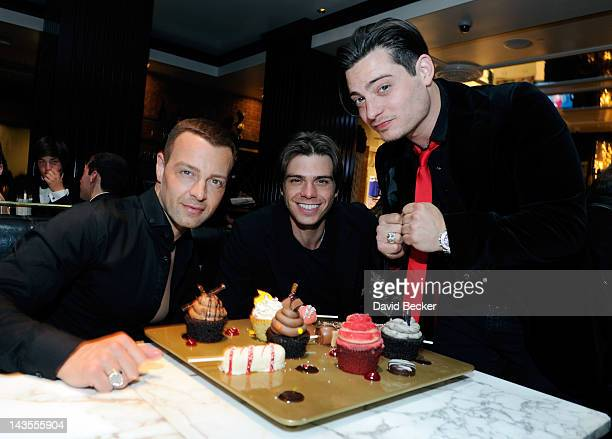 Actor Joey Lawrence celebrates his birthday with his brothers Matthew Lawrence and Andrew Lawrence at the Sugar Factory American Brasserie at the...