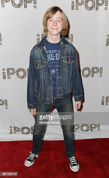 Actor Joey Luthman arrives at the iPOP Awards Showcase Gala at Hyatt Regency Century Plaza on January 12 2010 in Century City California