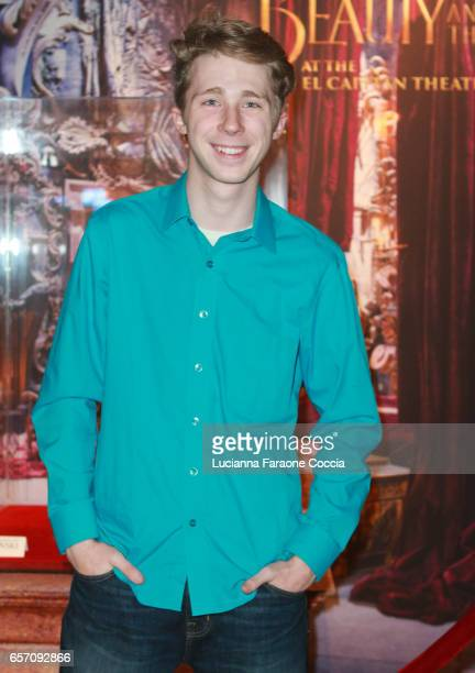 Actor Joey Luthman attends Red Walk special screening of Disney's 'Beauty And The Beast' at El Capitan Theatre on March 23 2017 in Los Angeles...