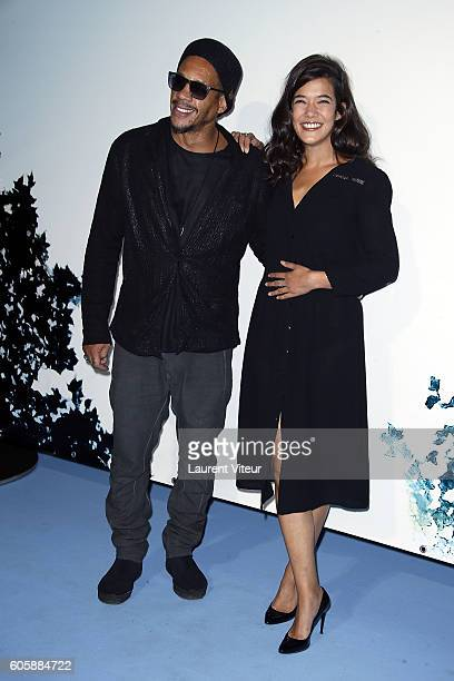 Actor Joeystarr and Actress Melanie Doutey attend the 'La Main du Mal' Photocall during the 18th Festival of TV Fiction on September 15 2016 in La...