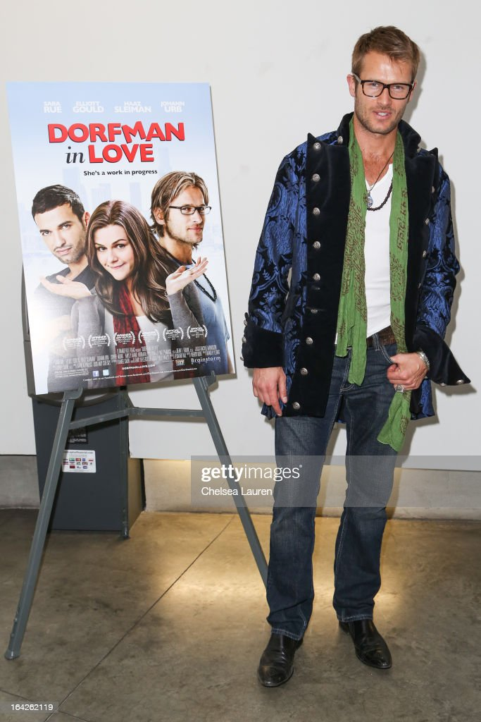 Actor Johann Urb arrives at the 'Dorfman in Love' premiere at Downtown Independent Theatre on March 21, 2013 in Los Angeles, California.