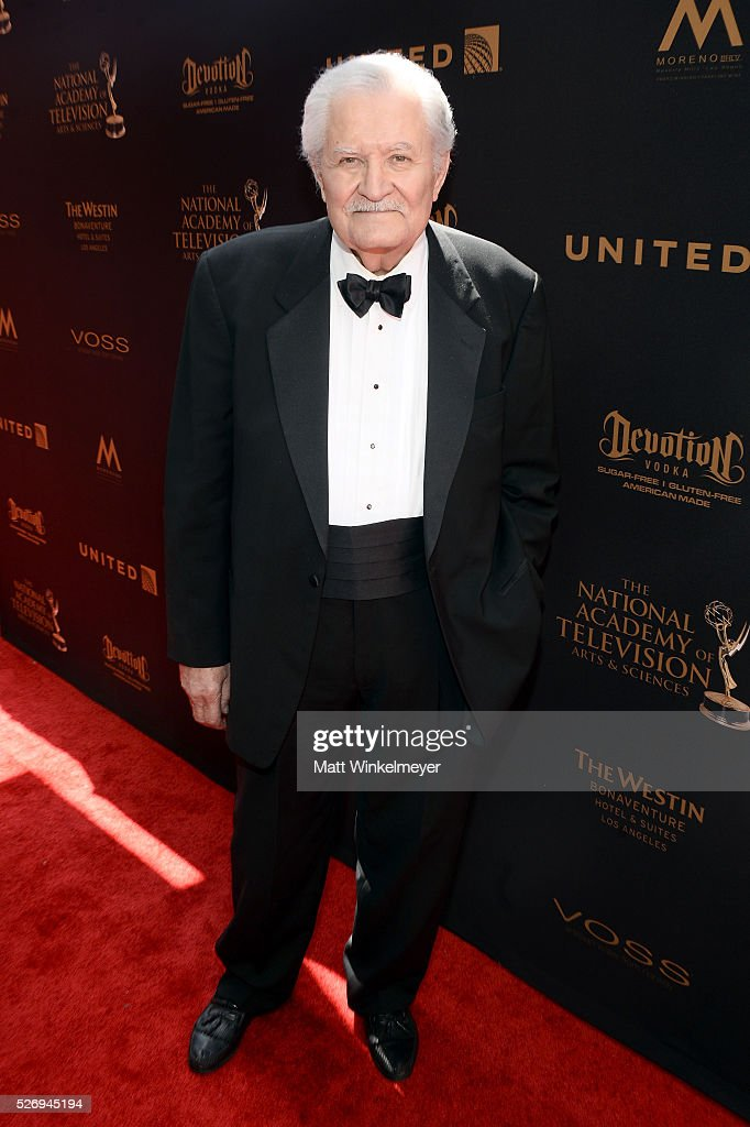 Actor John Aniston arrives at the 43rd Annual Daytime Emmy Awards at the Westin Bonaventure Hotel on May 1, 2016 in Los Angeles, California.