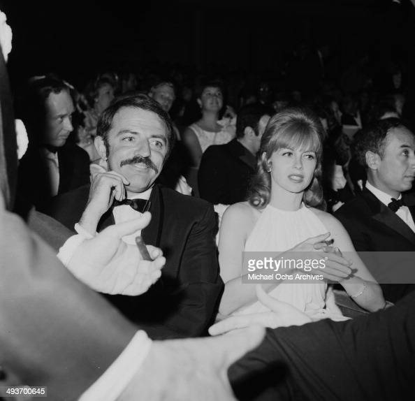 Actor John Astin with wife Suzanne Hahn attend a premiere in Los Angeles California