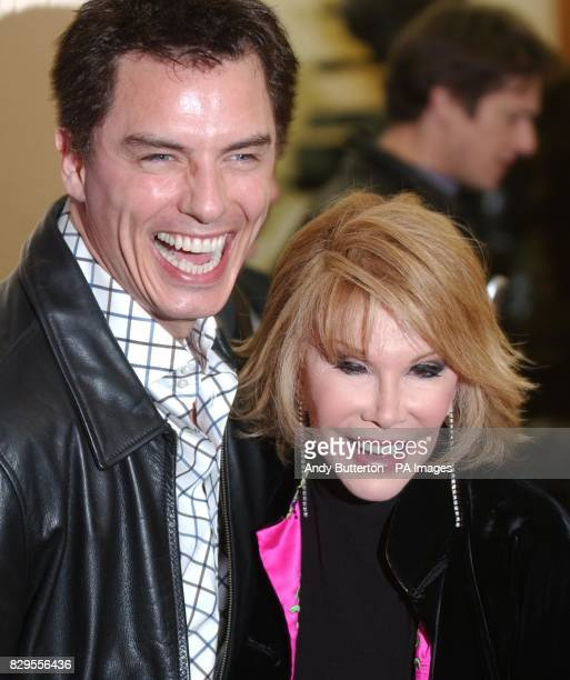 Actor John Barrowman and Joan Rivers arrive